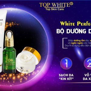 """3 bước Trẻ hóa - Xóa nhăn - Da căng mịn siêu dễ """"cộp mác"""" Top White"""