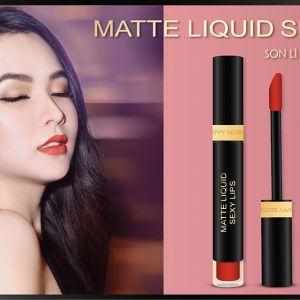 Say trong men tình cùng Matte Liquid Sexy Lips Drunk Love