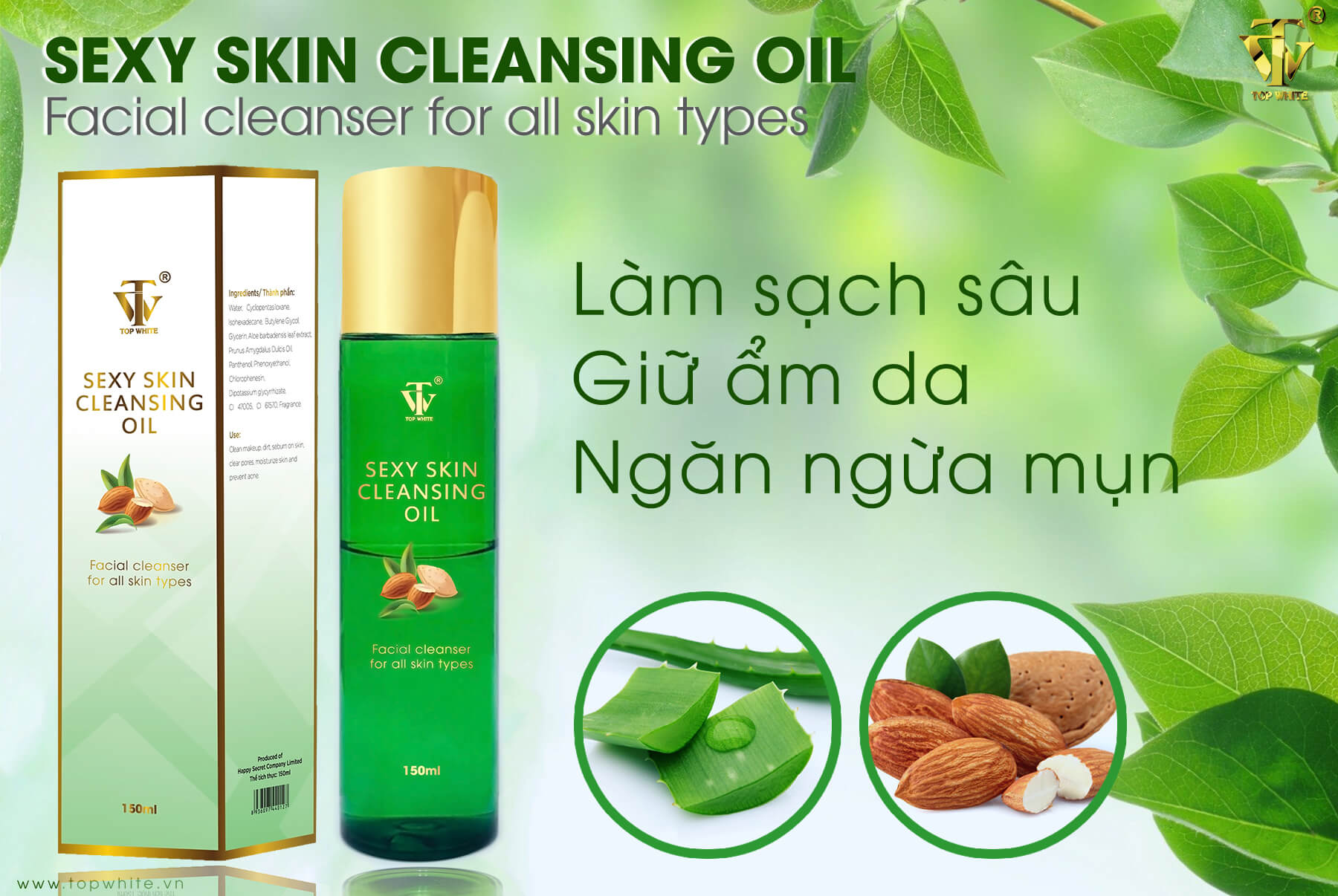 dầu tẩy trang sexy skin cleansing oil Top White