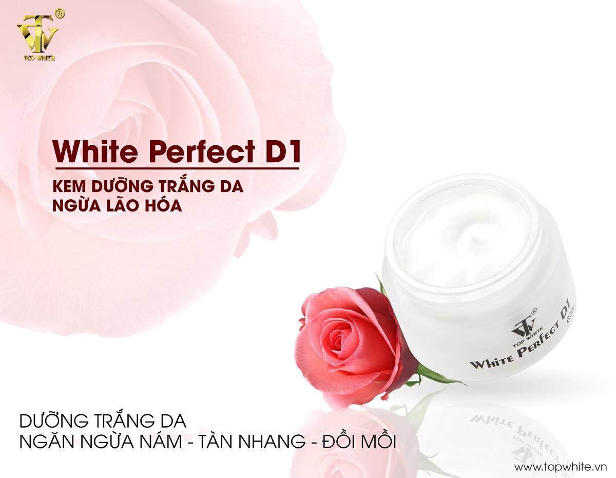 Kem dưỡng trắng da ngừa nám tàn nhang white perfect d1