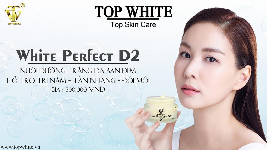 Kem dưỡng trắng da ban đêm Top White - White Perfect D2 hiệu quả