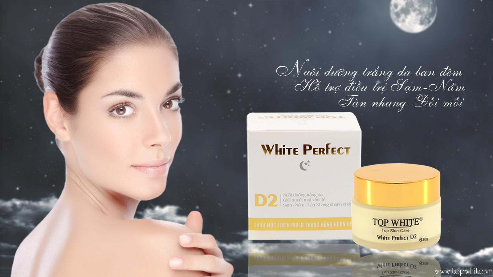 White Perfect D2 kem dưỡng trắng da ban đêm hỗ trợ trị nám