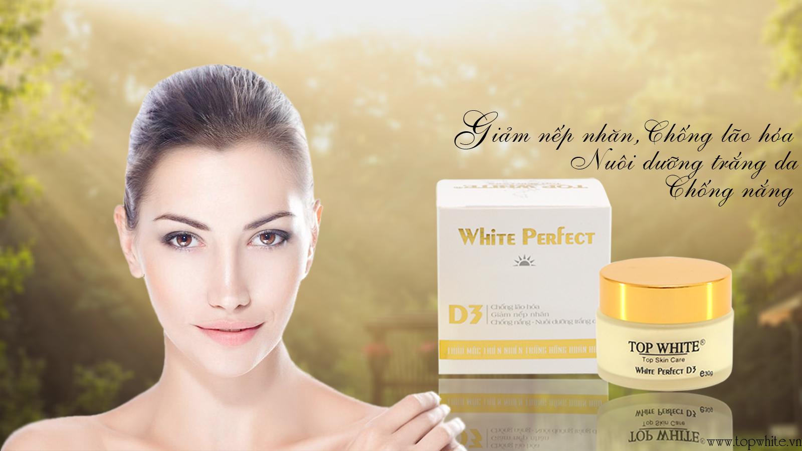 White Perfect D3 kem dưỡng trắng da trị nám, chống lão hóa ban ngày