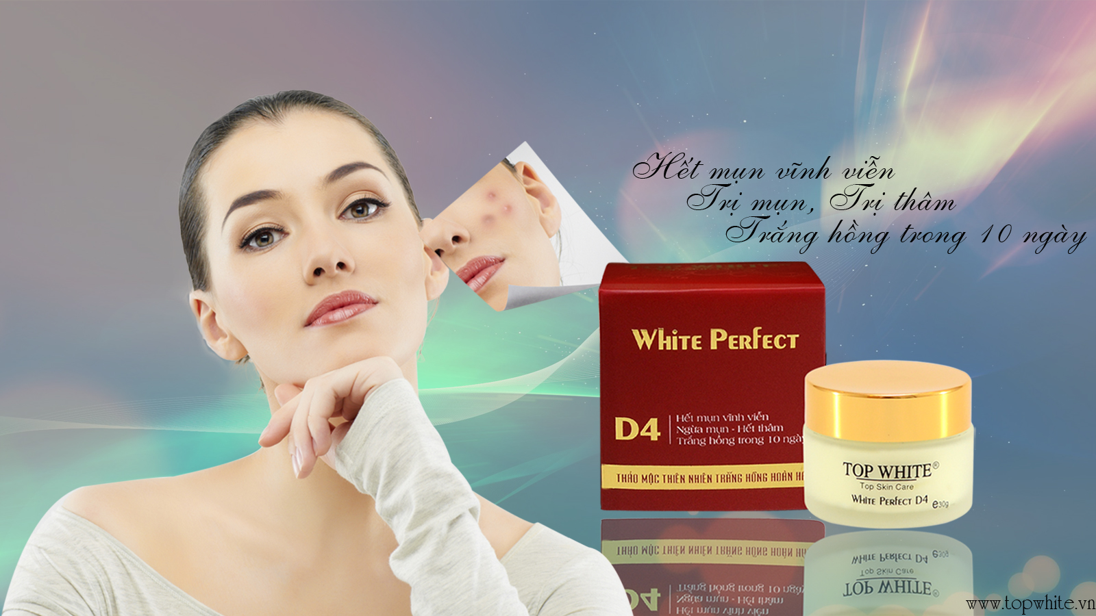 White Perfect D4 kem trị mụn, trị sẹo thâm vĩnh viễn