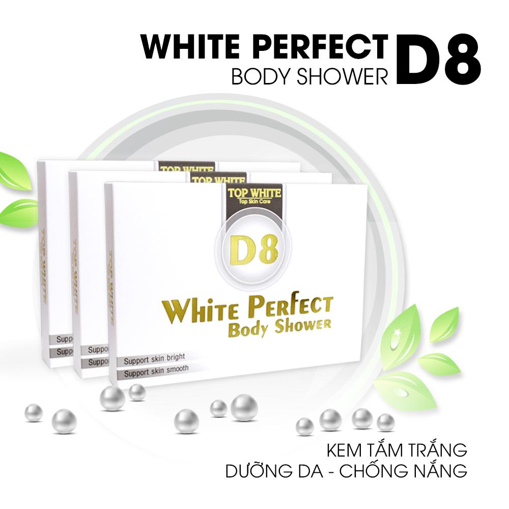 kem tắm trắng da white perfect d8 top white