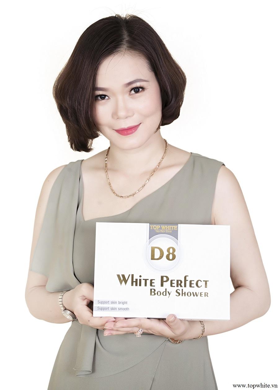 Kem tắm trắng da toàn diện 4 trong 1 White Perfect D8