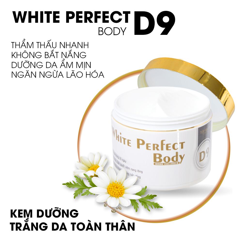 Kem dưỡng trắng da toàn thân d9 top white