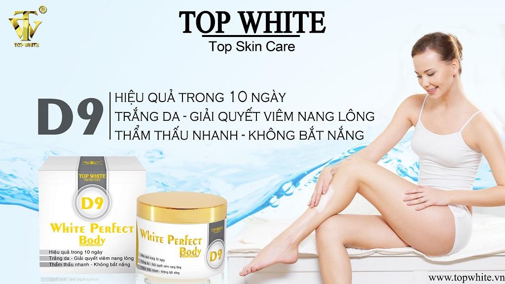 Kem dưỡng ẩm da toàn thân Top White D9