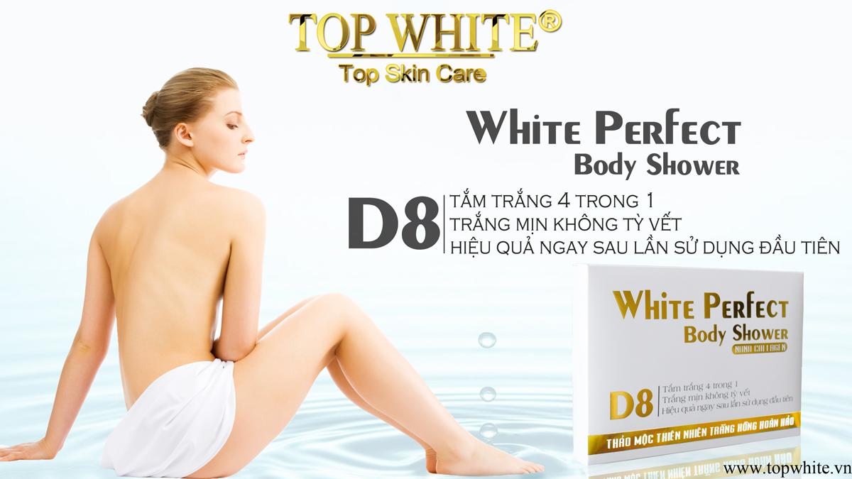 White Perfect D8 tắm trắng toàn thân 4 trong 1