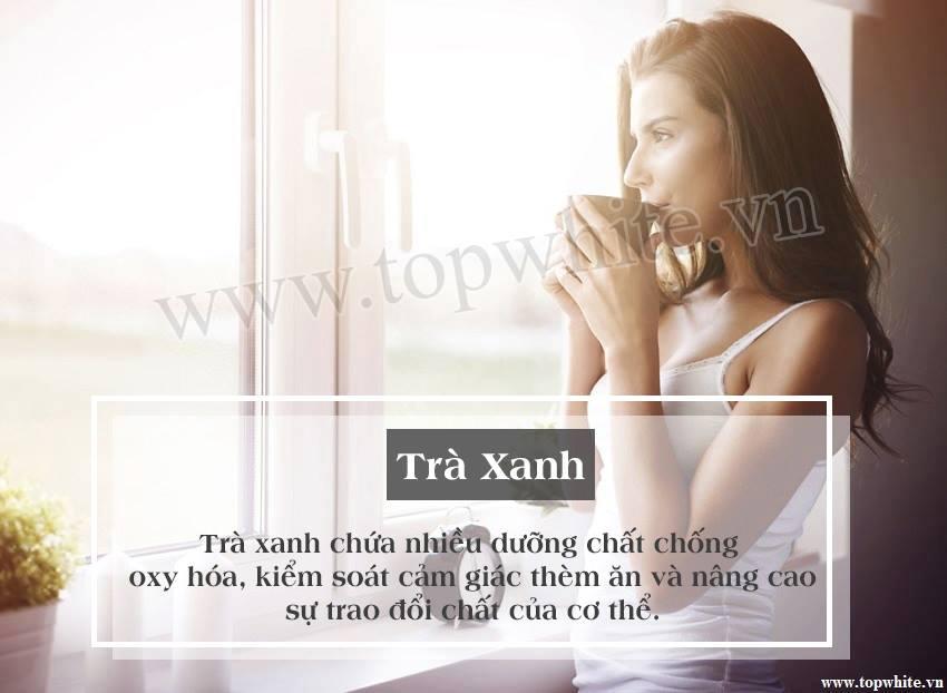 Top White khuyên bạn uống trà xanh giúp trẻ lâu