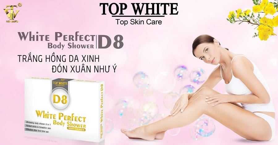 Top White kem tắm trắng White Perfect Body Shower D8