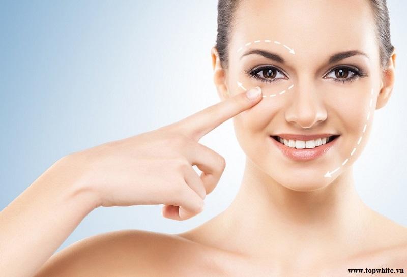 Top White cách chăm sóc da mắt ngừa lão hóa
