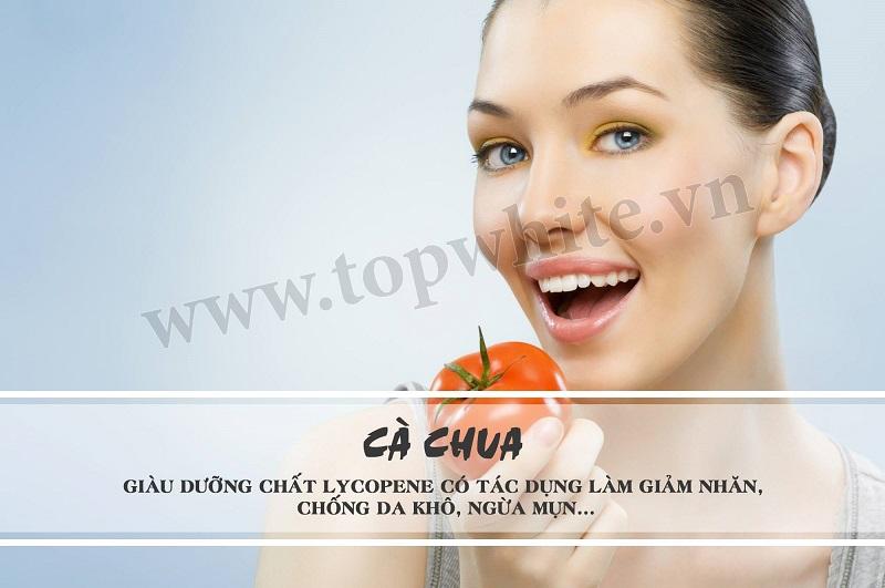 Top White khuyên bạn cà chua tốt cho người da khô