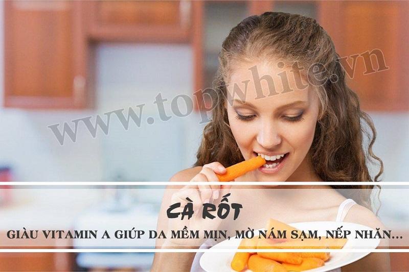 thực phẩm cho da khô cà rốt