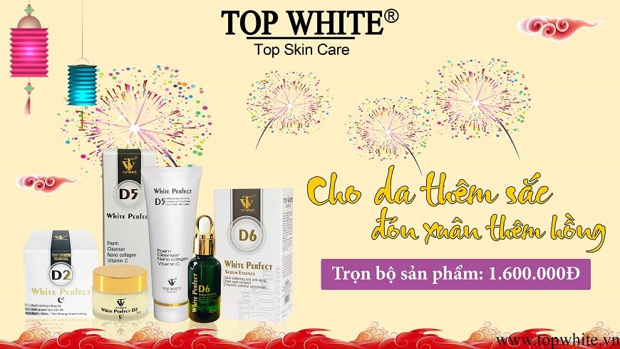 Top White bộ sản phẩm dưỡng da ban đêm White Perfect D2+D5+D6