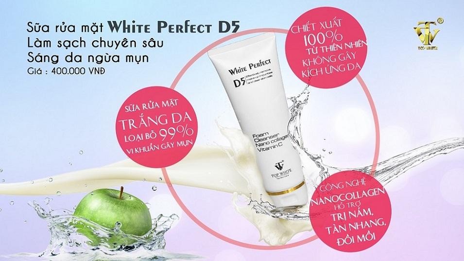 sữa rửa mặt Top White D5