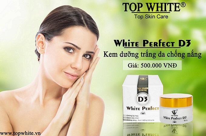 Top White D3 kem chống nắng trang điểm