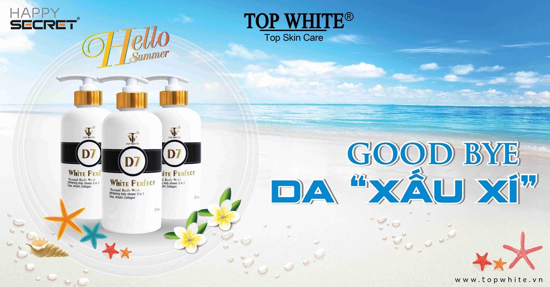 top white d7 sữa tắm trắng da tốt nhất