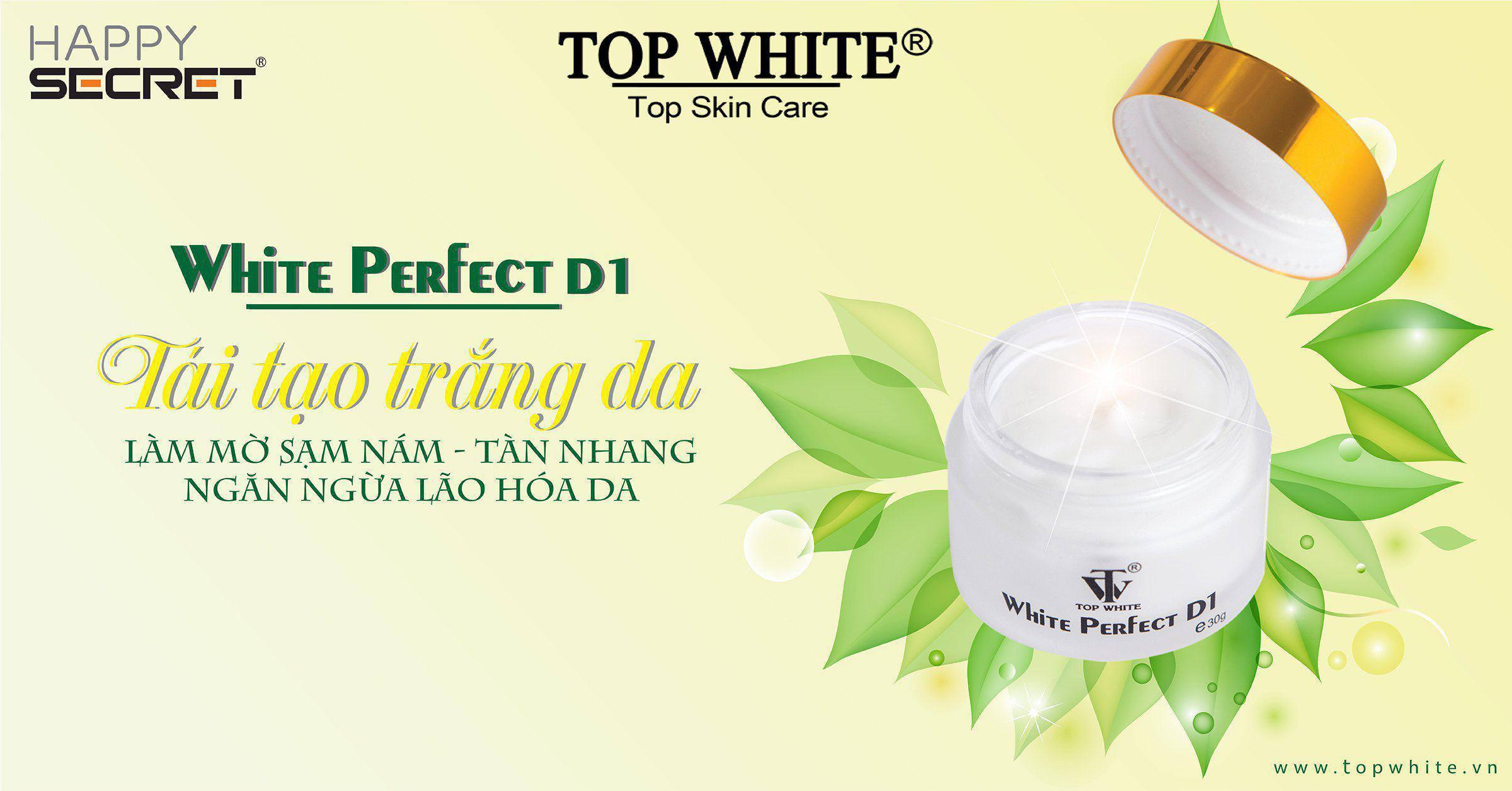 kem trắng da trị nám top white d1