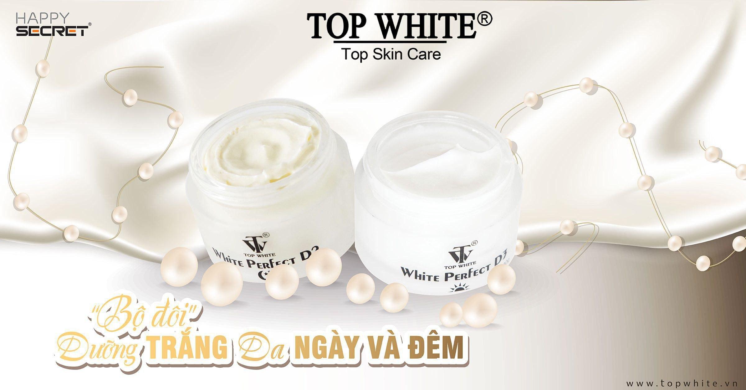 top white d1 d2 d3 kem trắng da trị nám