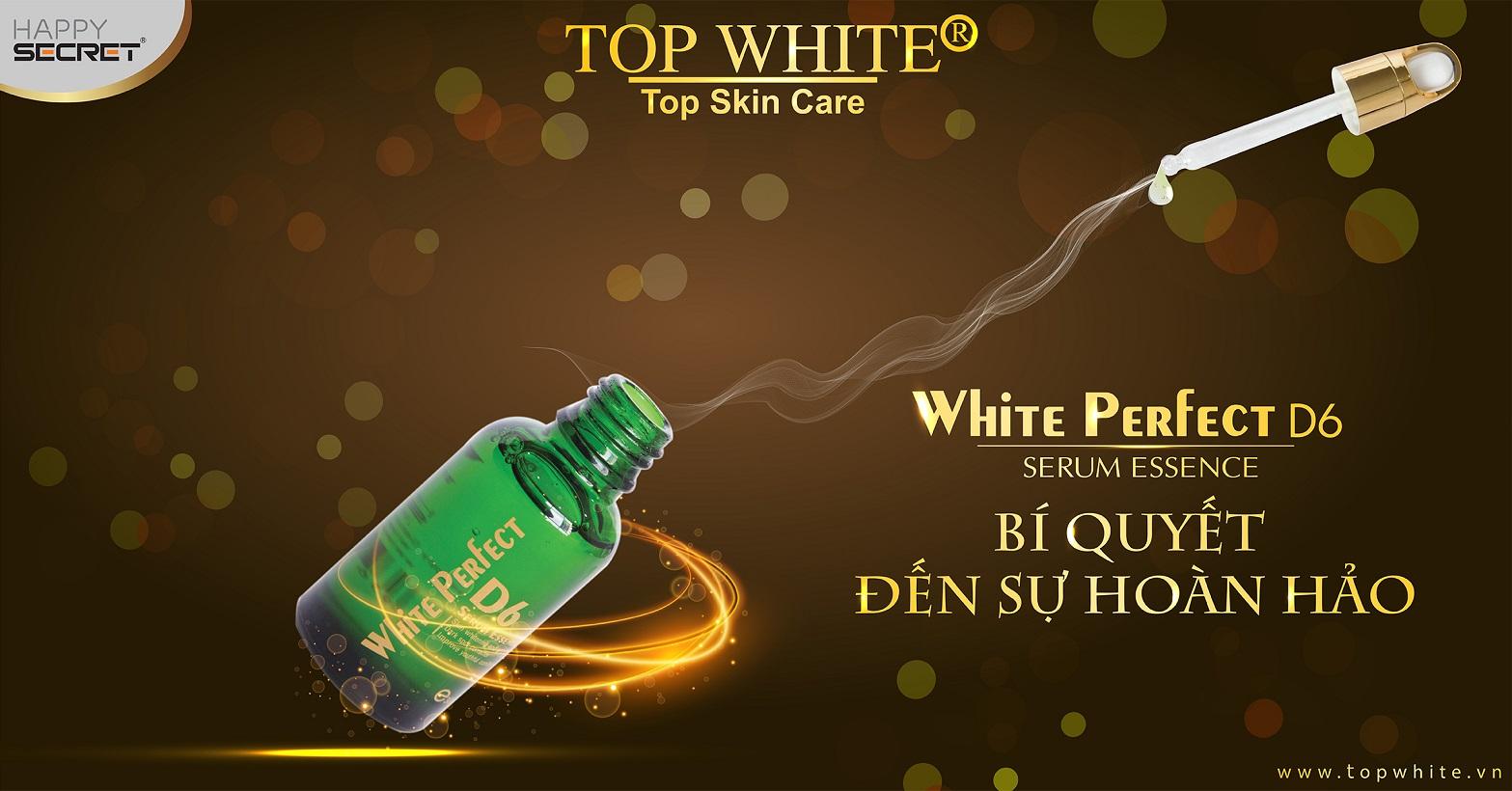 Top White D6 cách dưỡng da đẹp trẻ trung