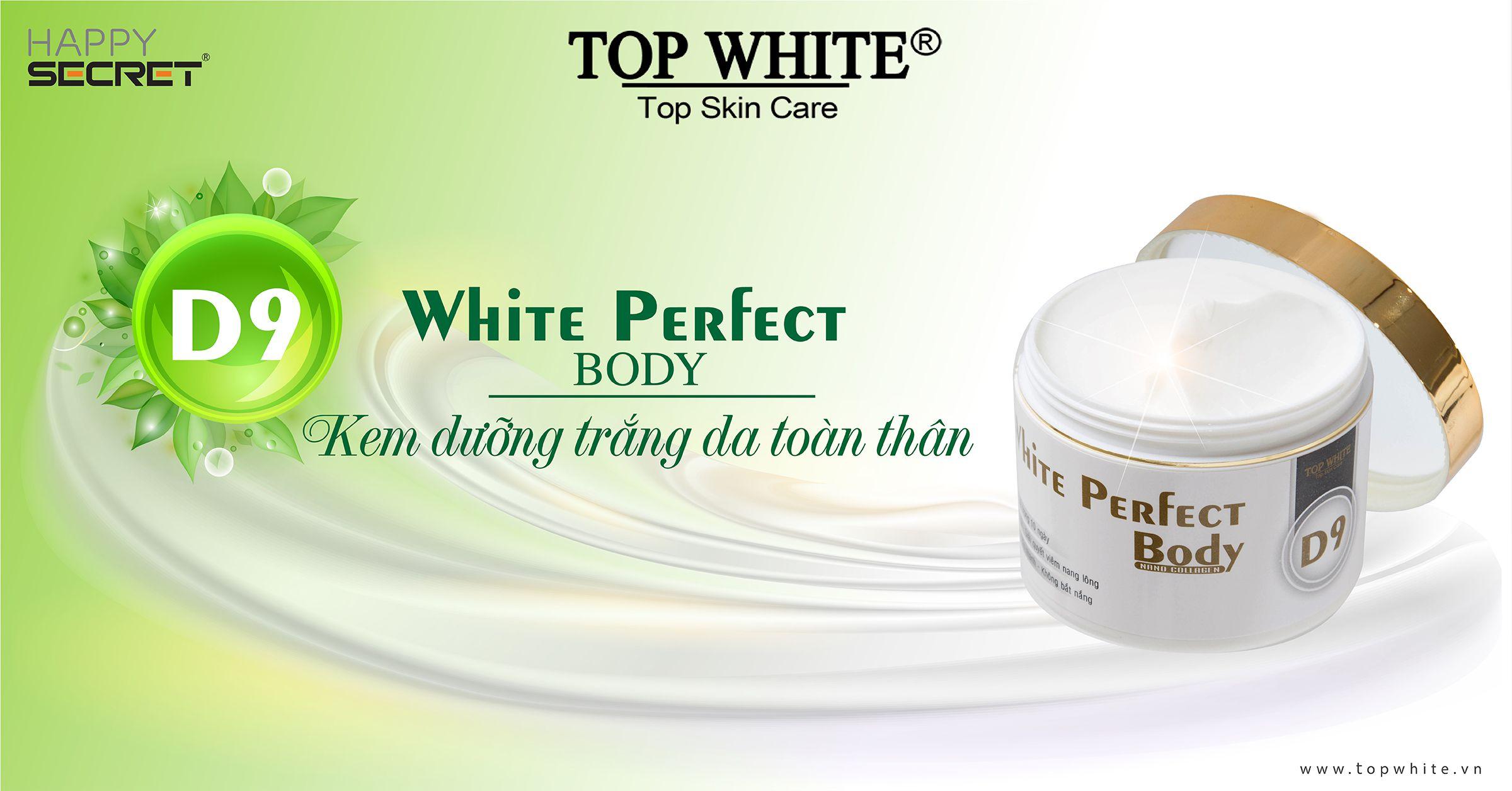top white d9 cách chăm sóc da tay