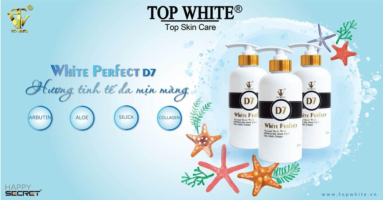 mỹ phẩm top white d7