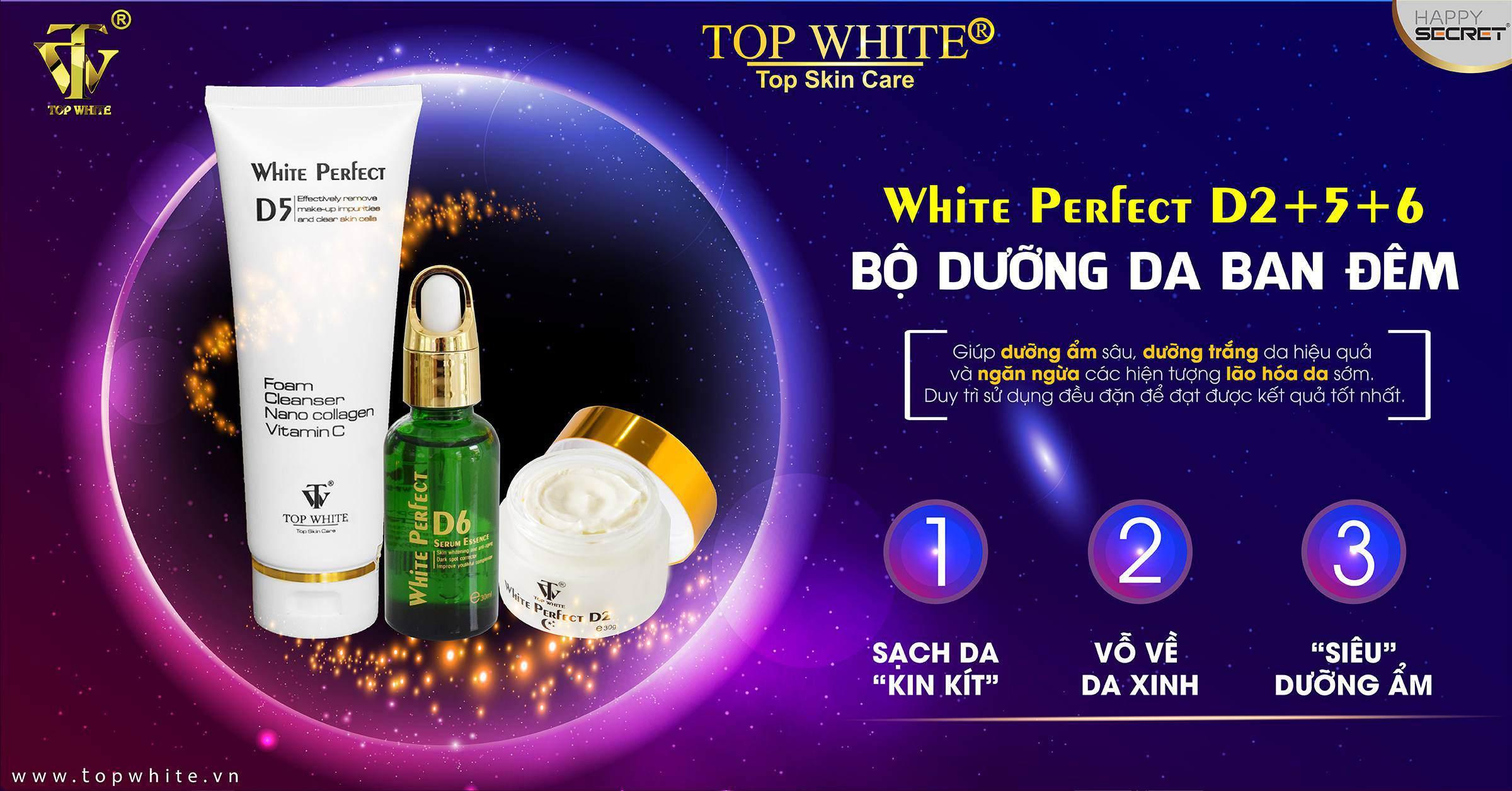 top white d2 d5 d6 kem trắng da