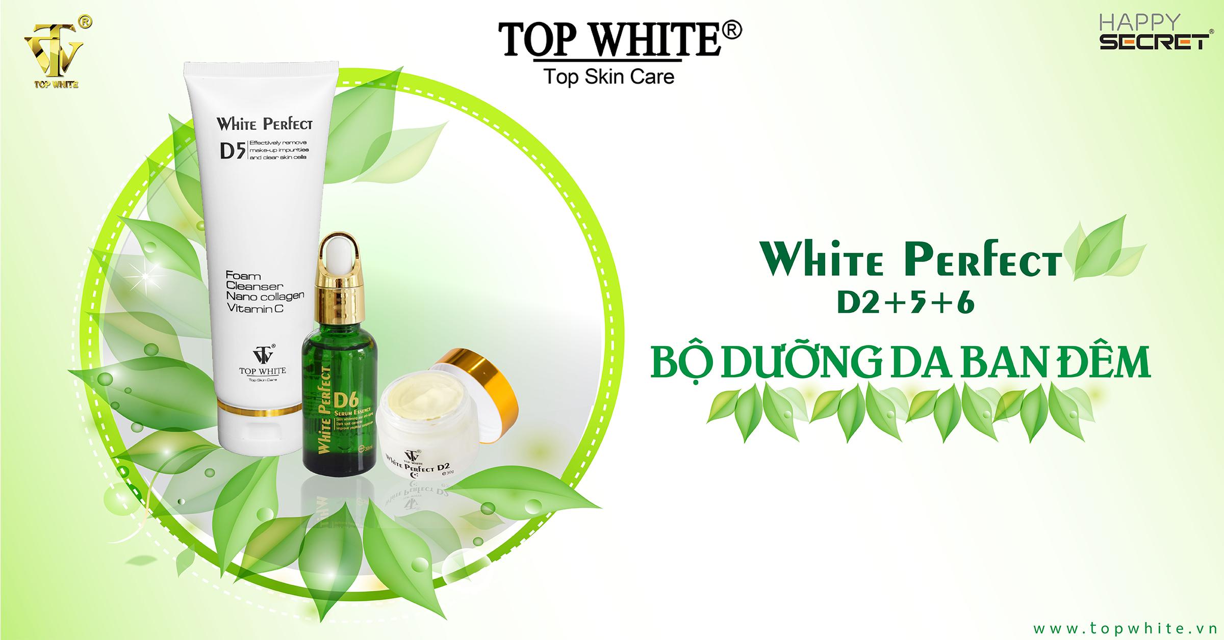 top white d2 d5 d6 kem dưỡng ban đêm