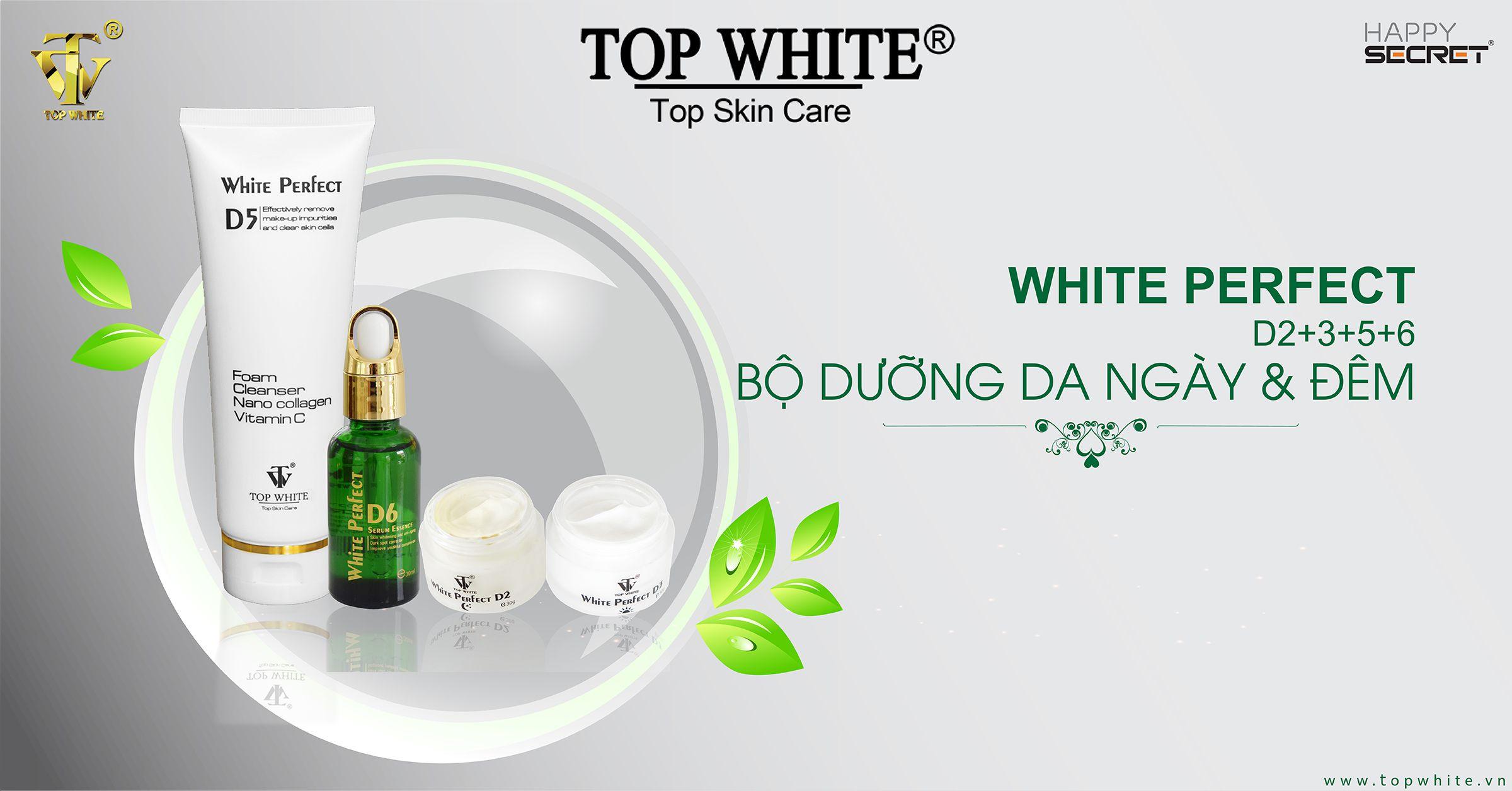 top white d2 d3 d5 d6 kem dưỡng ban đêm