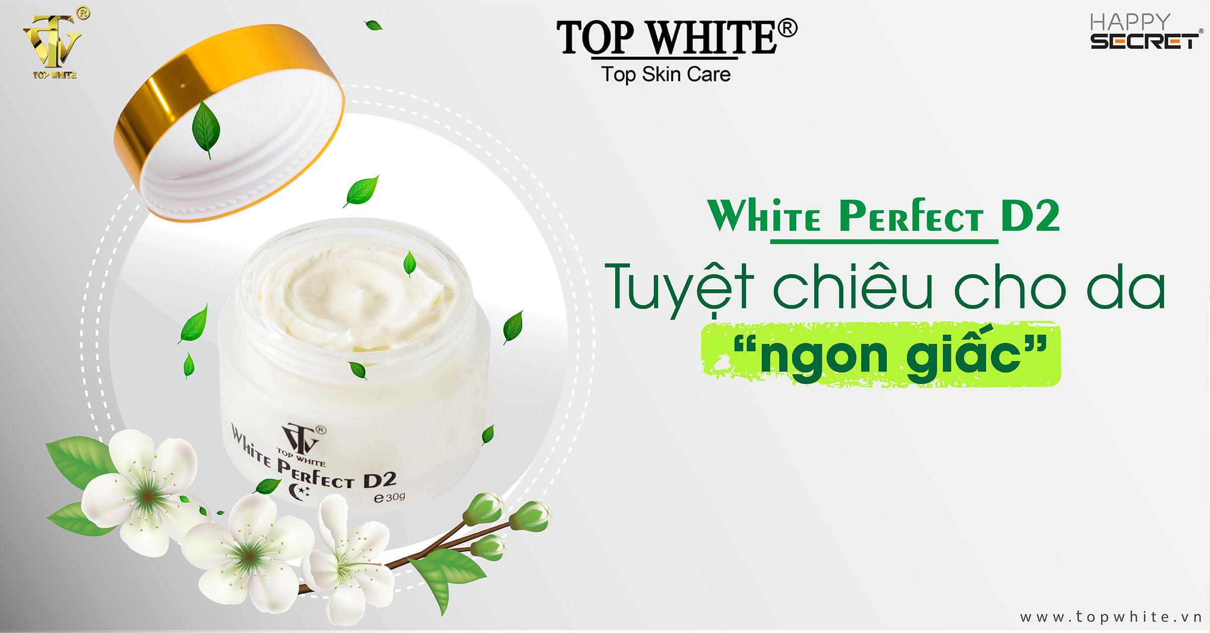 top white d2 kem dưỡng ban đêm