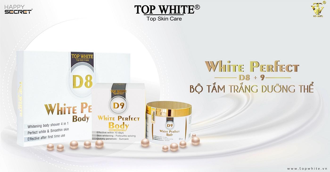 top white d8 d9 kem tắm trắng dưỡng da toàn thân