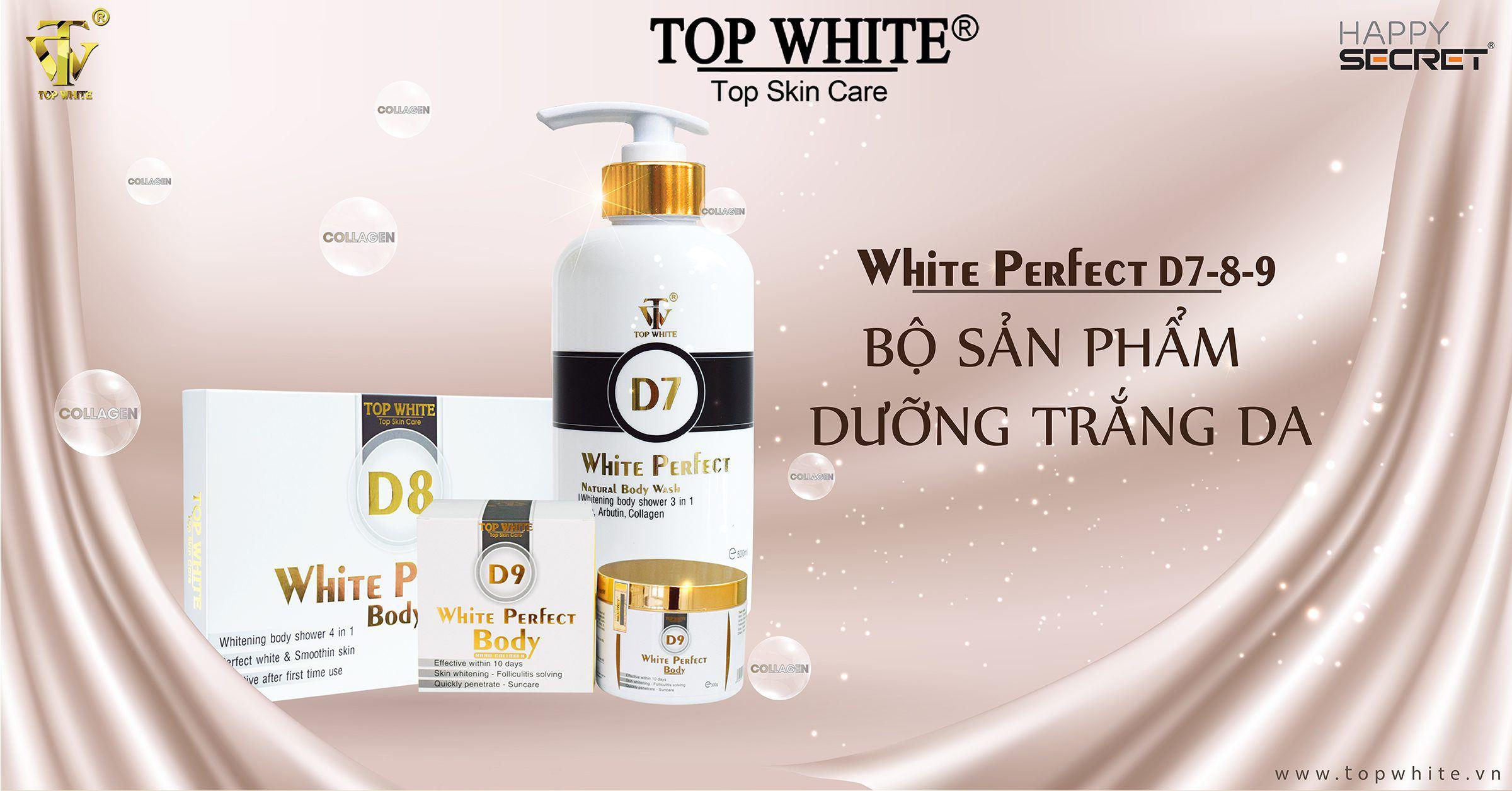 top white d7 d8 d9 kem dưỡng trắng toàn thân
