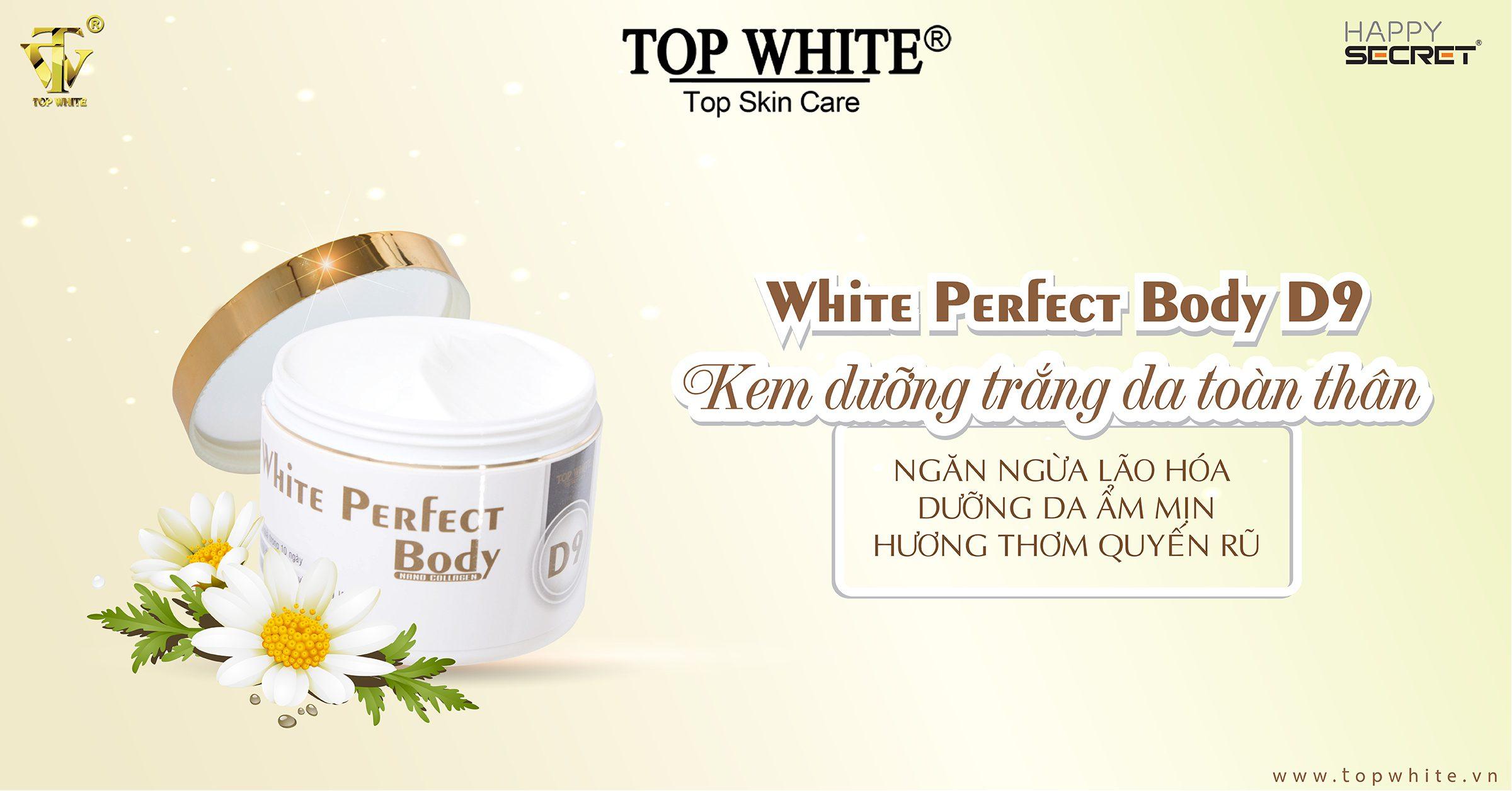 top white d9 kem dưỡng trắng toàn thân hiệu quả