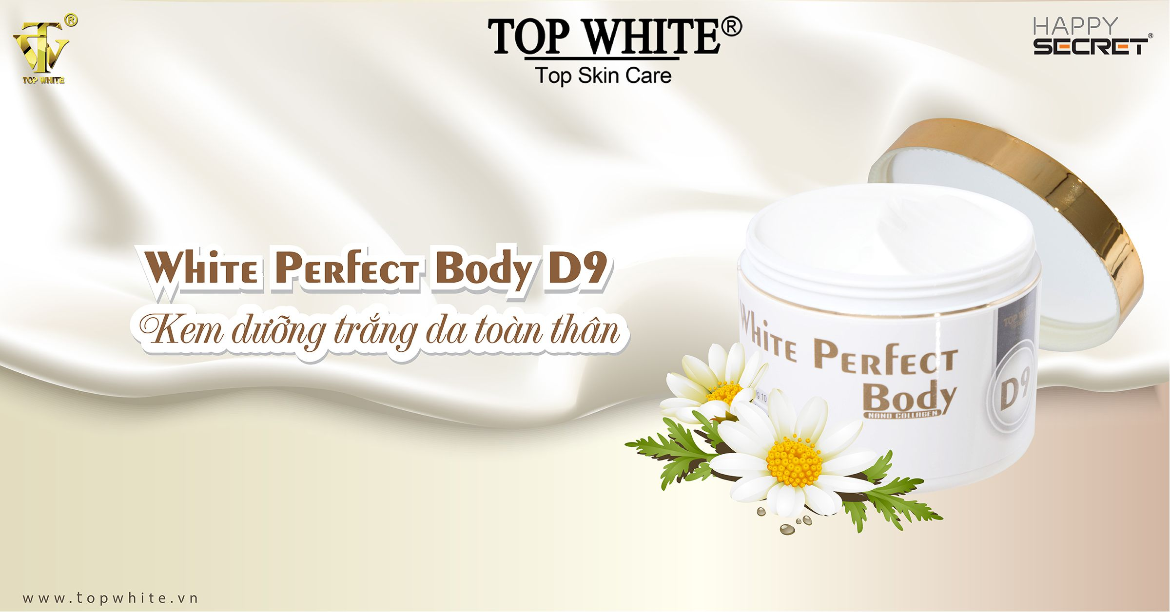top white d9 kem dưỡng trắng toàn thân