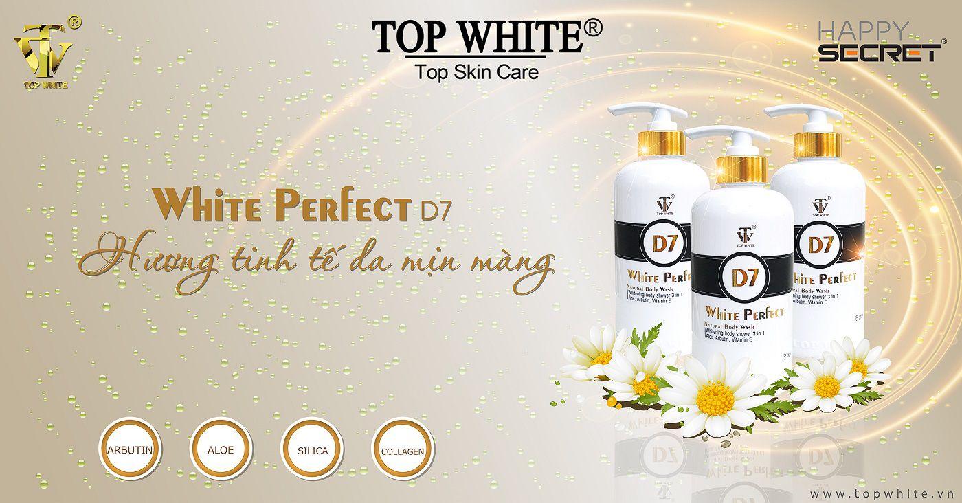sữa tắm top white d7