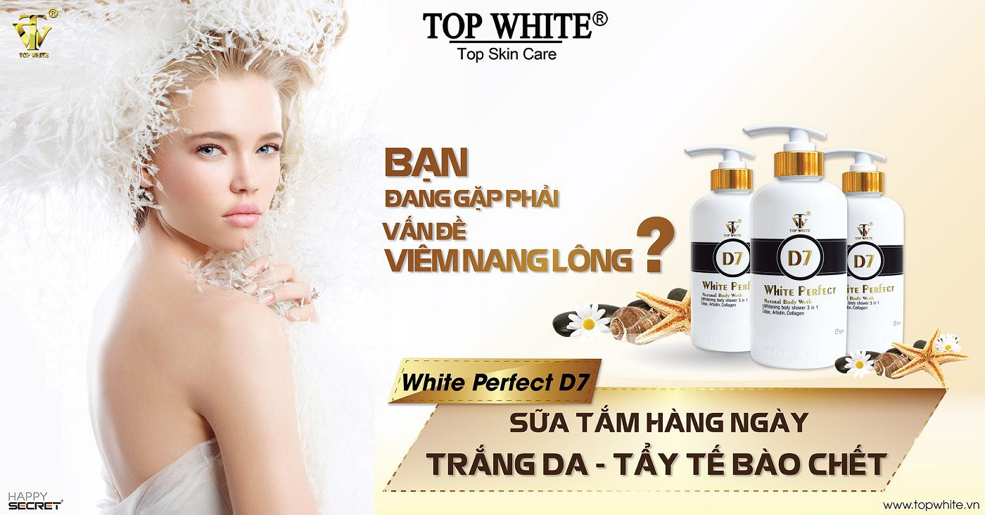 top white d7 sữa tắm trắng da hàng ngày