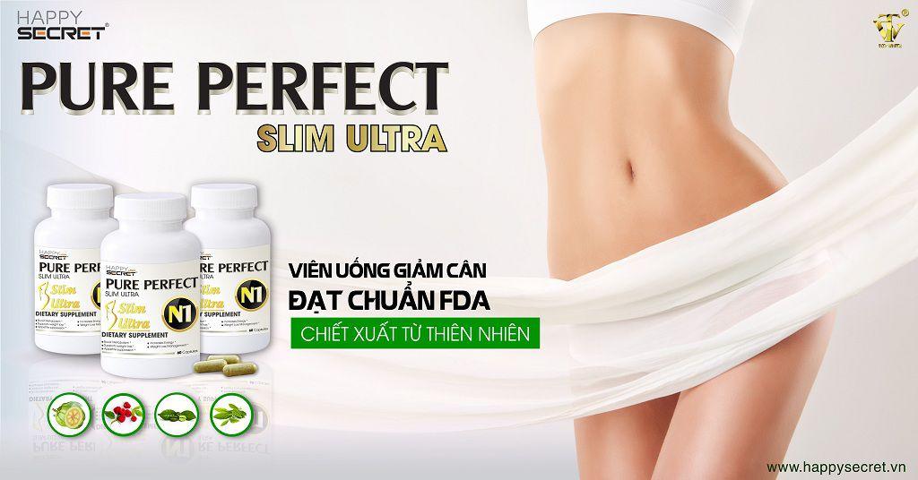Viên uống giảm cân top white Pure Perfect Slim Ultra N1