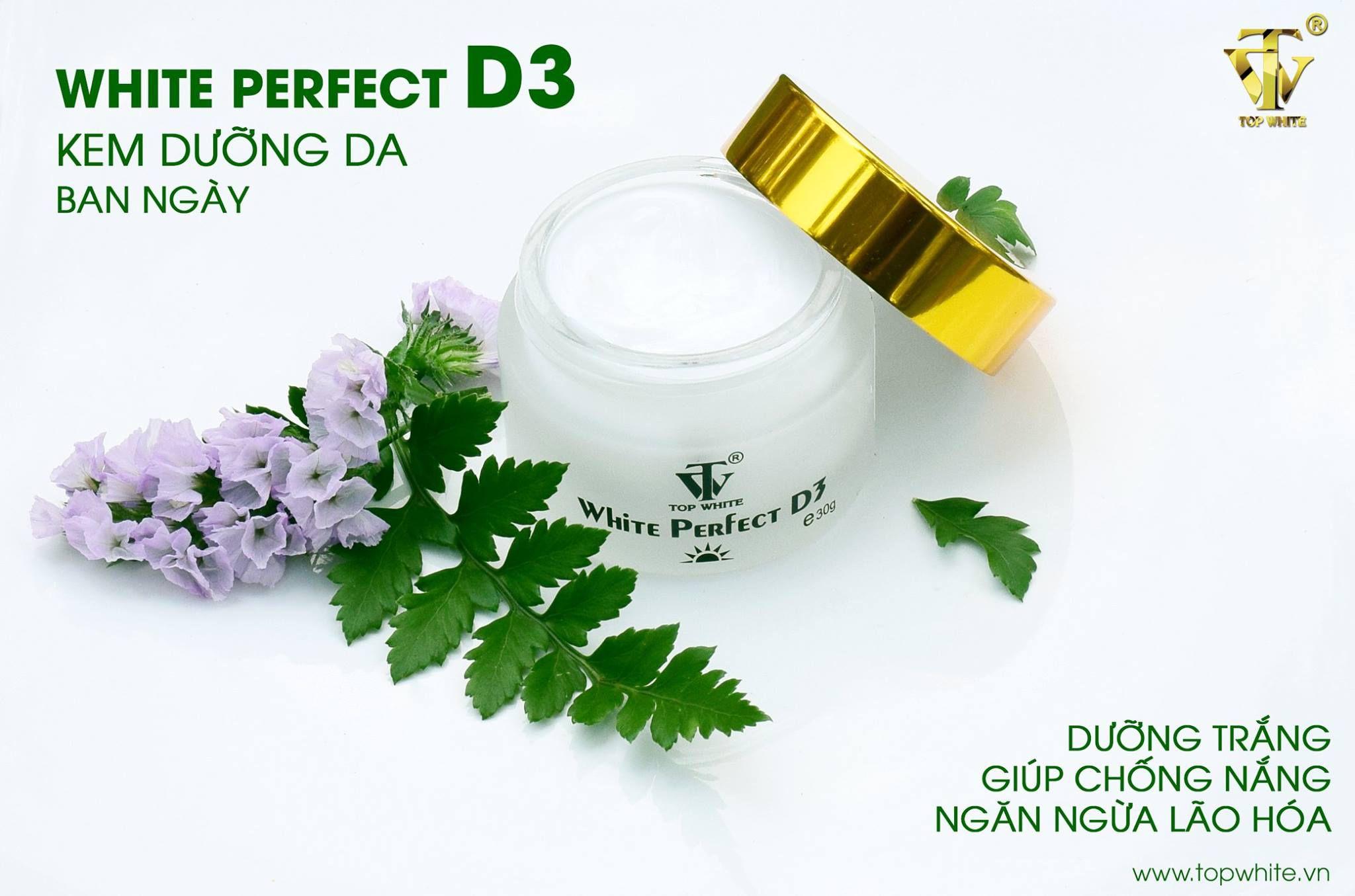 kem dưỡng trắng da chống nắng white perfect D3 của Top White
