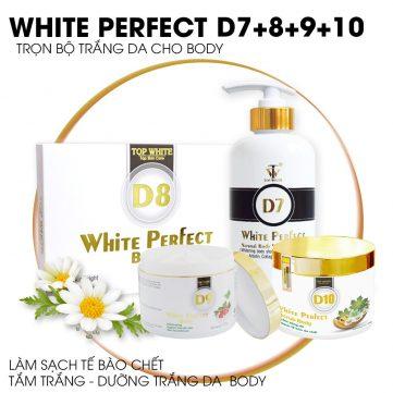 Bộ sản phẩm trắng da toàn thân top white