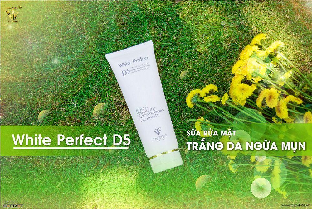 Sữa rửa mặt chăm sóc da mặt white perfect 5