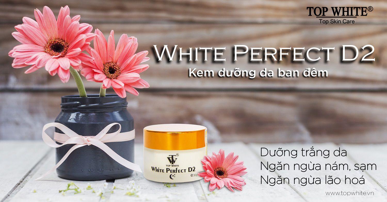 kem dưỡng trắng da ban đêm white perfect d2