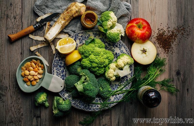 cách giảm cân nhanh tại nhà cho nữ - ăn nhiều rau quả
