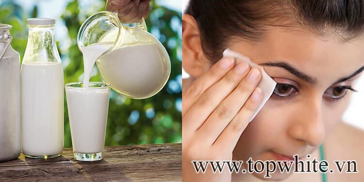 Cách tẩy trang bằng thiên nhiên với sữa tươi