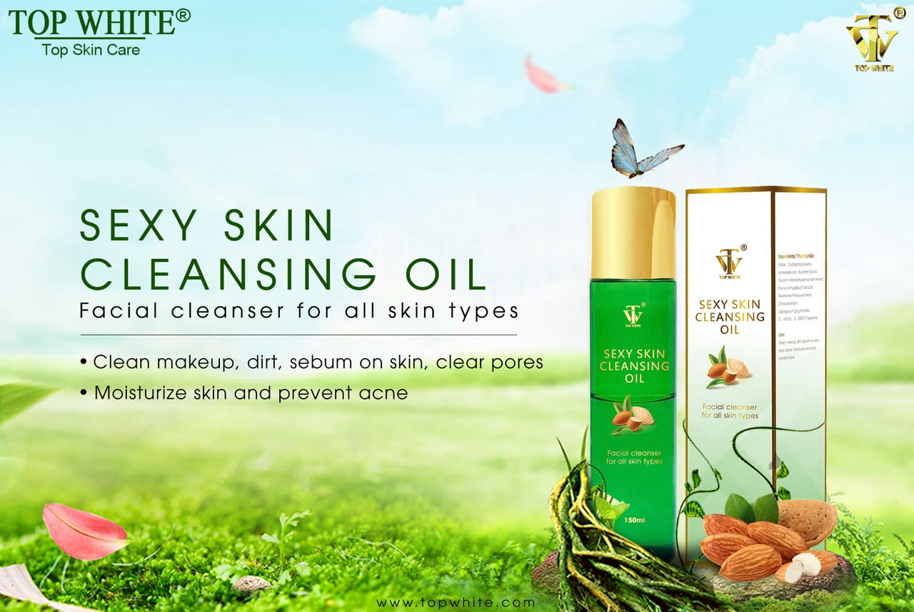 dầu tẩy trang cao cấp top white sexy skin cleansing oil